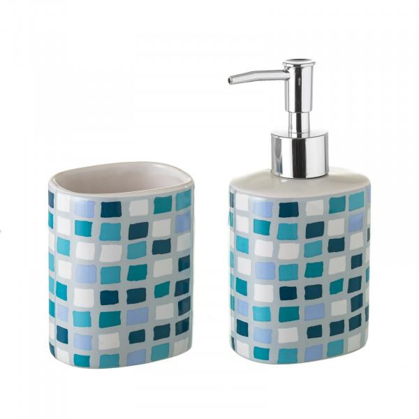 Accesorios de baño modernos azules de cerámica para cuarto ...