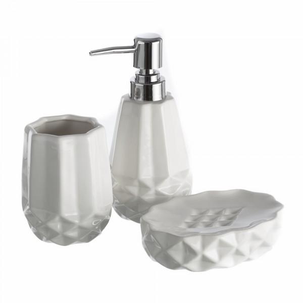 Accesorios de baño moderno blanco de cerámica | LOLA home
