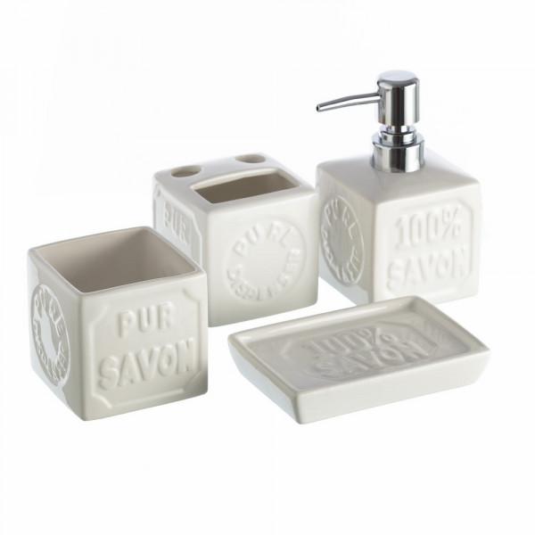 Accesorios de baño modernos blancos de cerámica para cuarto de baño Vitta