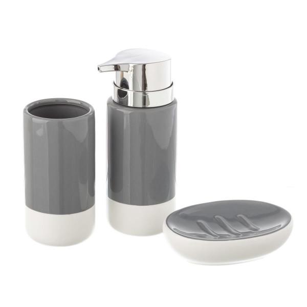 Accesorios de baño modernos grises de cerámica para cuarto de baño Fantasy