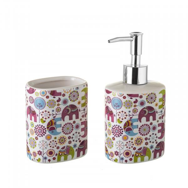Accesorios de baño infantiles rosa de cerámica para cuarto de baño Child