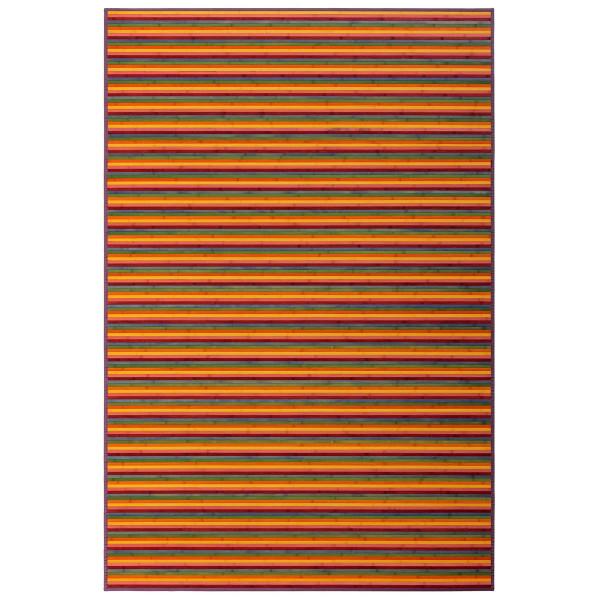 Alfombra de salón pop naranja de bambú para comedor de 200 x 300 cm Iris