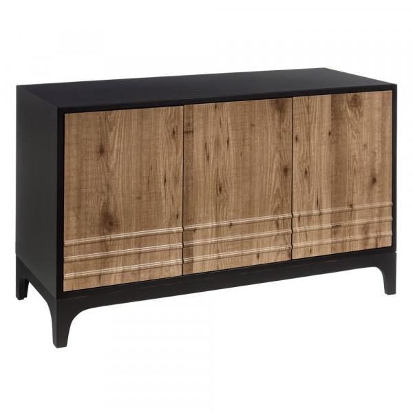 Aparador de salón moderno negro de madera | LOLA home