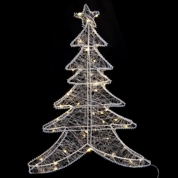 árbol De Navidad De Luces Led Blanco Moderno Para Decoración Navideña De 60 Cm Christmas