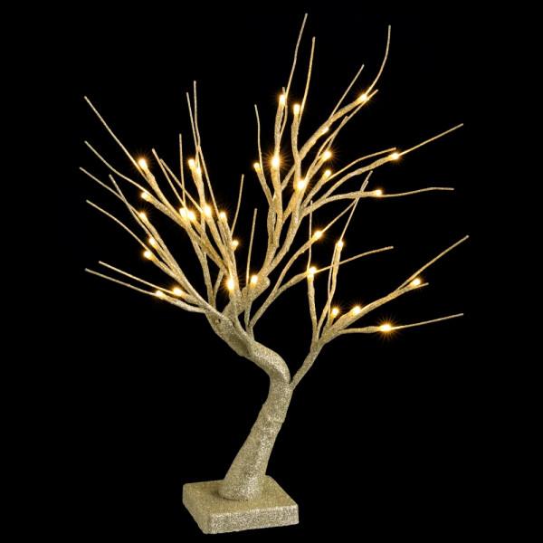 97110ebe655 Árbol de Navidad con luces led de interior dorado minimalista para  decoración navideña de 45 cm