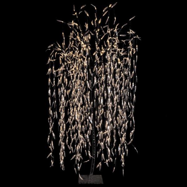 árbol De Navidad Con Luces Led De Interior Y Exterior Negro Moderno Para Decoración Navideña De 210 Cm Christmas