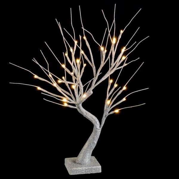 árbol De Navidad Con Luces Led De Interior Plateado Minimalista Para Decoración Navideña De 45 Cm Christmas