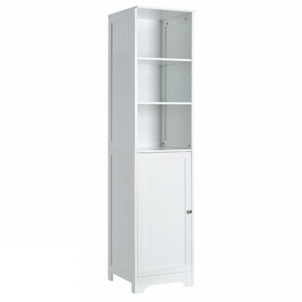Armario de 1 puerta y 2 baldas minimalista blanco   LOLAhome