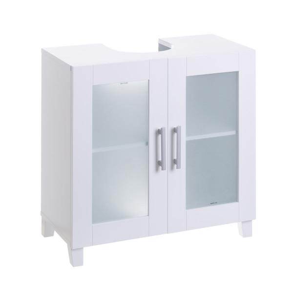 Armario bajo lavabo blanco de madera moderno para cuarto de baño Vitta