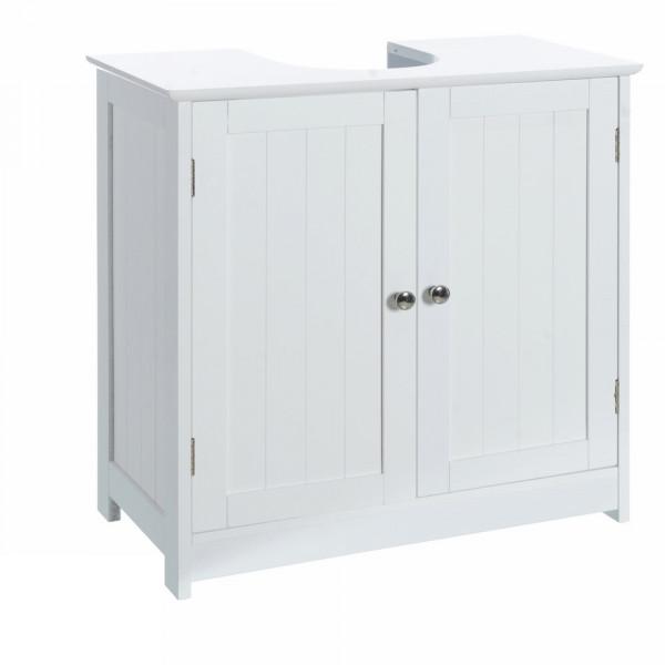 Armario bajo lavabo minimalista blanco de madera para cuarto de baño Vitta