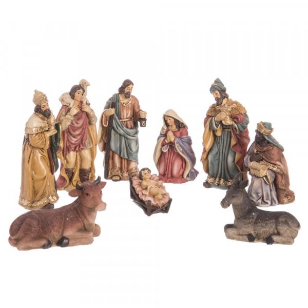 406971b4514 Belén de Navidad con Reyes Magos de resina beige clásico para la entrada  Christmas - Principal