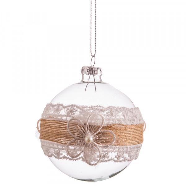 f2fe75d96cd5c Bola de Navidad de cristal transparente romántica para decoración navideña  Christmas - Principal