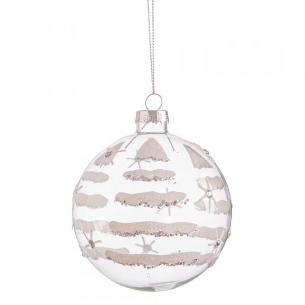 d8ec1b7fa8d33 Bola de Navidad de cristal transparente vintage para decoración navideña  Christmas - Principal