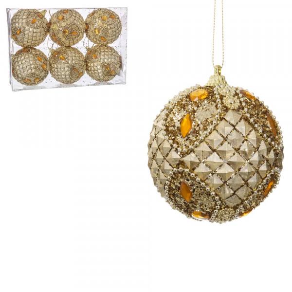 9276332cdccce Bolas de Navidad orientales doradas de foam Christmas - Principal