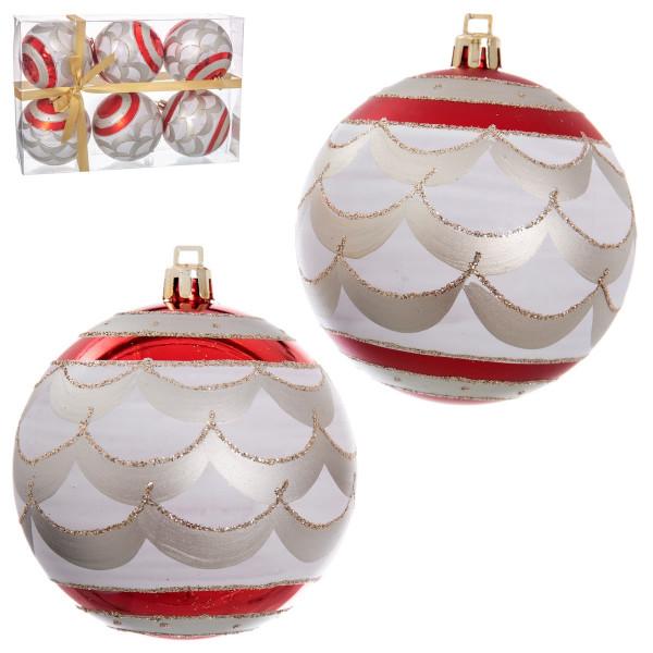 Bolas De Navidad Vintage Rojas De Pvc Para Decoración Navideña Christmas