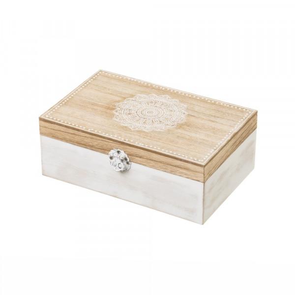dd7aaee7dc72 Caja de té de madera blanca moderna para cocina Arabia - Principal