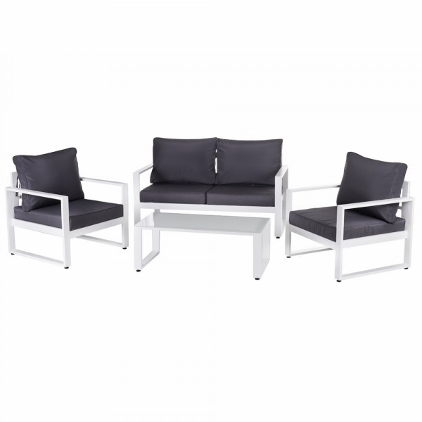 Conjunto De Muebles De Jardín De Resistente Aluminio Garden