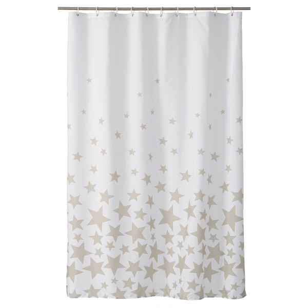 Cortina de ducha moderna beige de poliéster para cuarto de baño de 180x200  cm Child