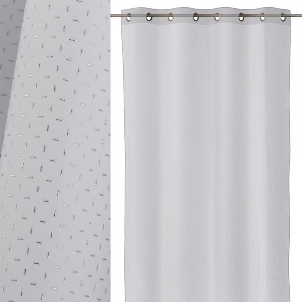 Cortina de salón blanco de poliéster minimalista para comedor de 140x260 cm  Fantasy