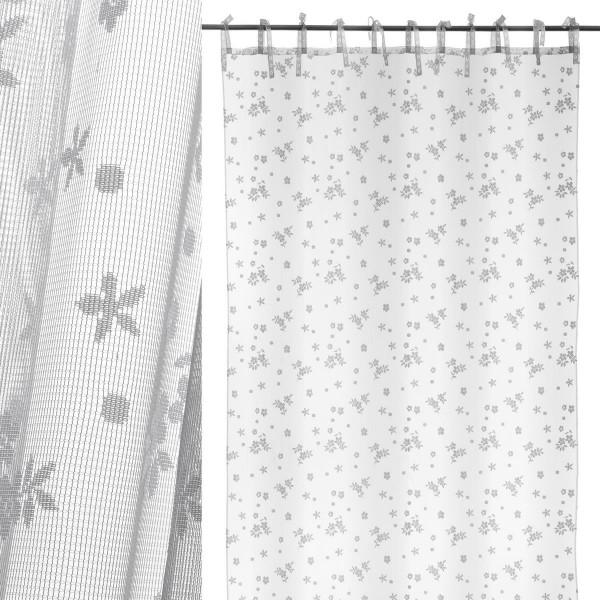 Cortinas Visillos Para Dormitorios.Cortina De Visillo Provenzal Blanco De Microfibra Lola Home