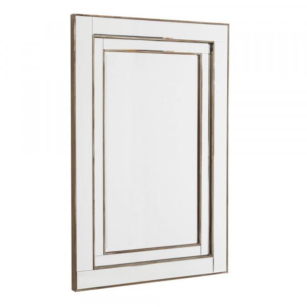 Espejo de comedor moderno plateado de madera | LOLA home