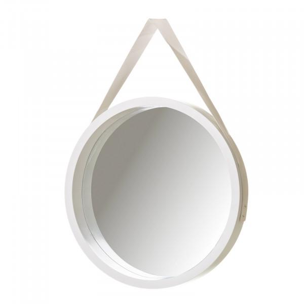 Espejo de pared n rdico blanco de pu para sal n lola home - Espejo nordico ...