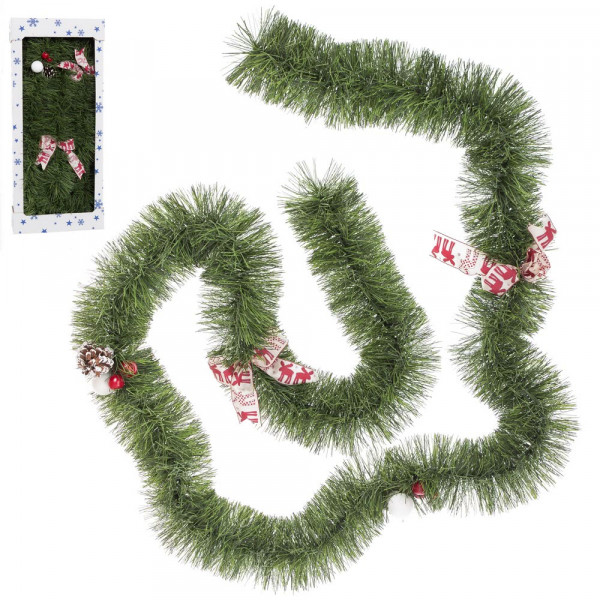 Guirnaldas De Navidad Imagenes.Guirnalda De Navidad Clasica Verde De Pvc Para Decoracion Navidena Christmas