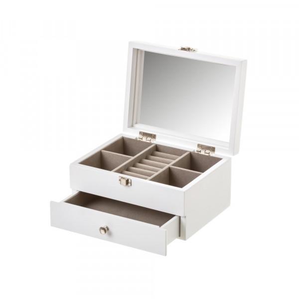 0bd9827ba873 Joyero con espejo de madera blanco árabe para dormitorio Vitta - Principal