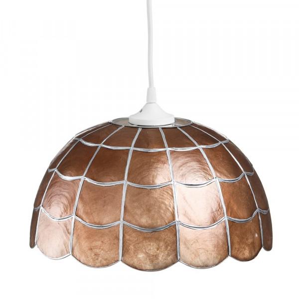 Lámpara de techo de nácar bronce de comedor vintage para salón Bretaña