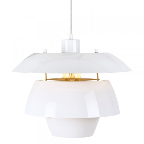 Lámpara De Techo de salón de acero blanco moderno | LOLAhome