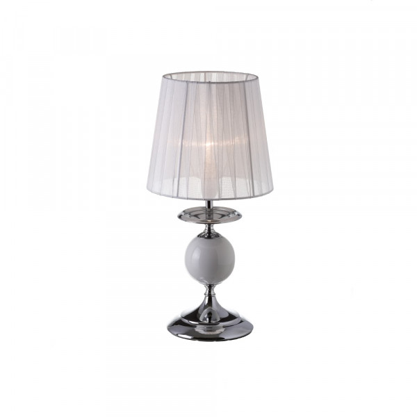 para Lámpara de moderna de noche de metal blanca dormitorio mesita Vitta JlK1FTc3