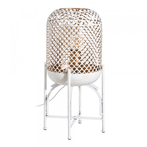 Naciente metal decoración Lámpara Sol de oriental pie para de blanca 7g6mYvIbfy