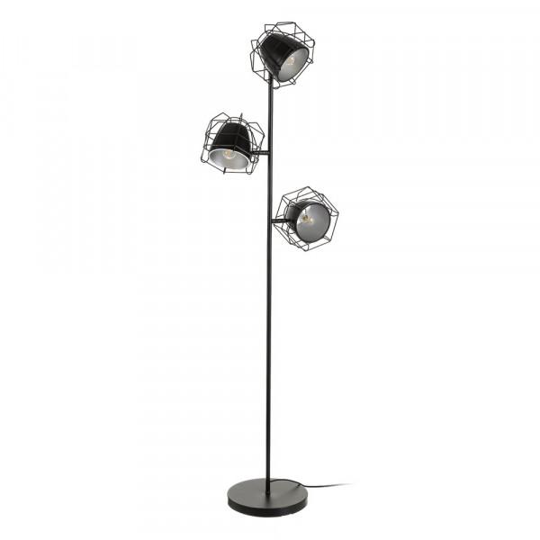 acero negra pie Lámpara de Factory para salón de industrial EHIWD29