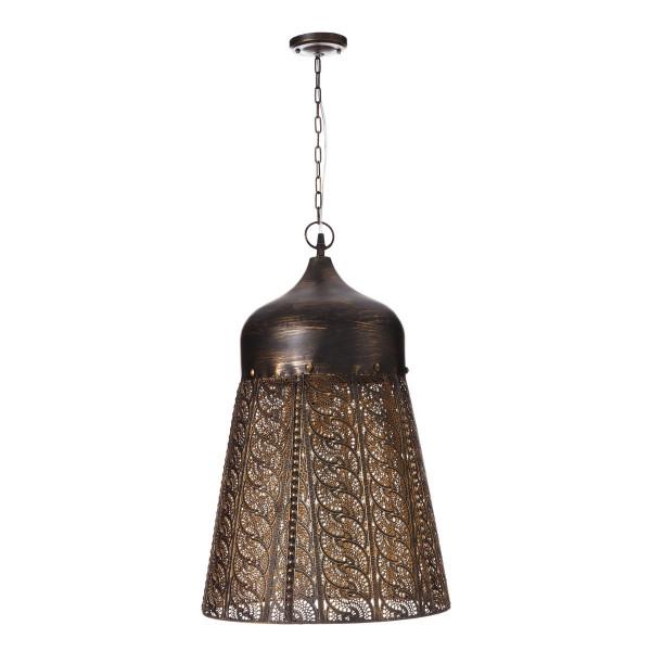 Lámpara de techo de metal dorada árabe para salón Arabia