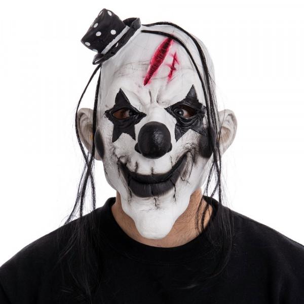 Mascara Para Cabeza De Payaso De Halloween Blanca De Latex De