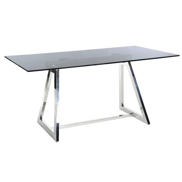 Mesa auxiliar moderno plateado de acero para oficina   LOLA home