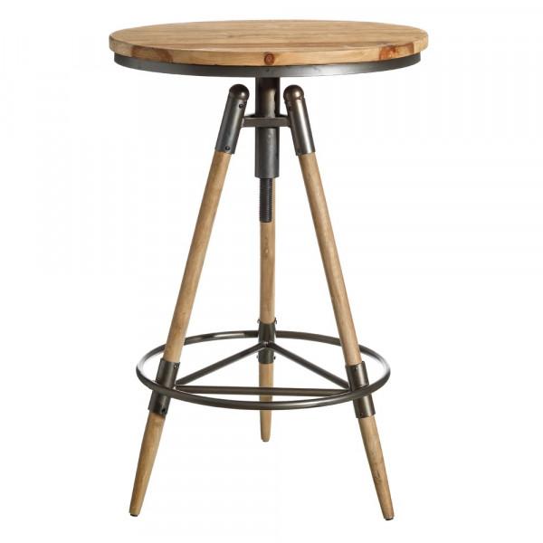4765931e6103 Mesa de bar de madera de abeto marrón rústica para salón Factory - Principal