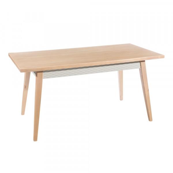Mesa para comedor de madera beige vintage para salón Fantasy