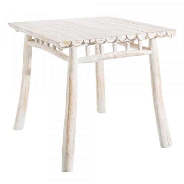 Mesas De Comedor De Teca.Mesa Para Comedor De Teca Natural Blanca Rustica Para Salon Vitta