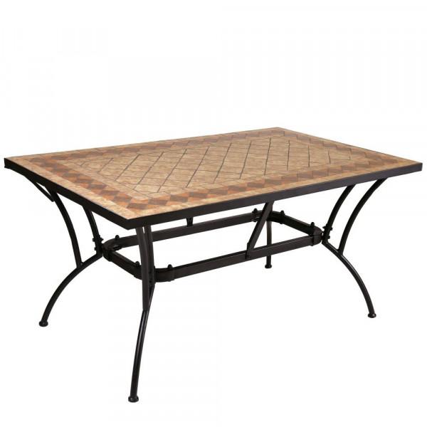 Mesa de comedor para jardín de cerámica marrón | LOLA home