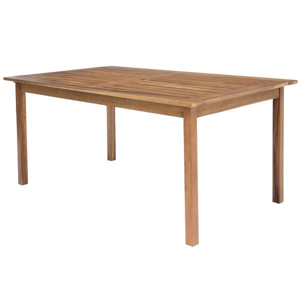 Mesa de jardín para comedor de madera marrón Garden