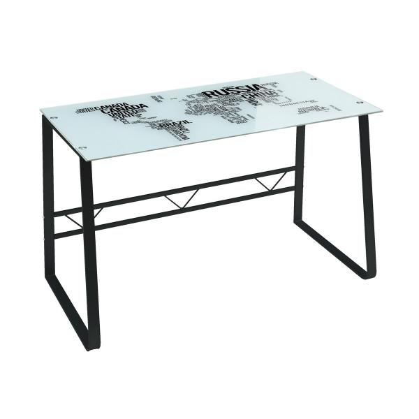 Mesa escritorio de cristal blanca moderna para oficina Factory