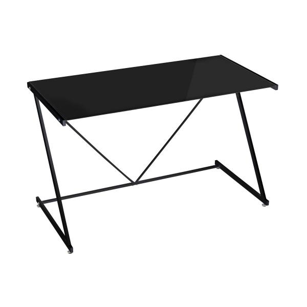 Mesa de escritorio moderno negro de cristal   LOLA home