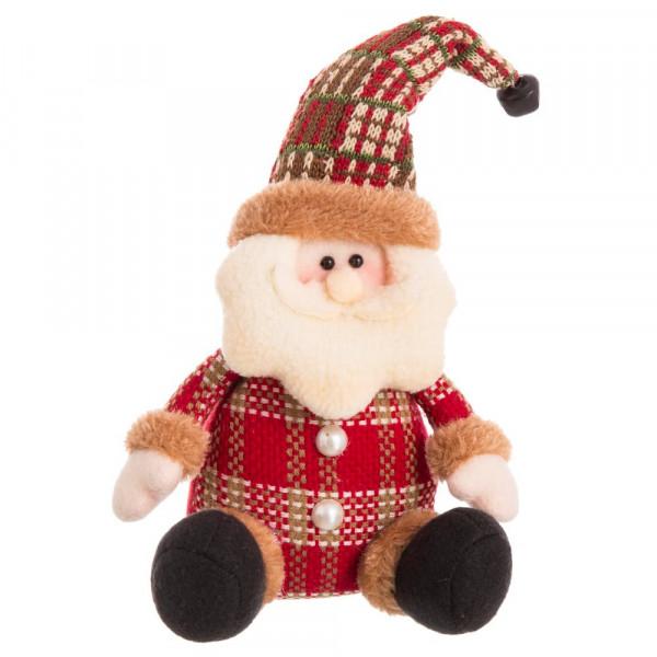Imagenes De Papa Noel De Navidad.Papa Noel De Navidad Tejido En Tela Rojo Moderno Para Decoracion Navidena Christmas