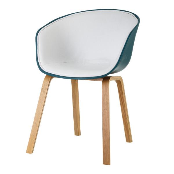 Silla de comedor de madera azul nórdico para salón | LOLA home
