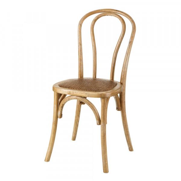 Silla de comedor vintage beige de madera para salón | LOLA home