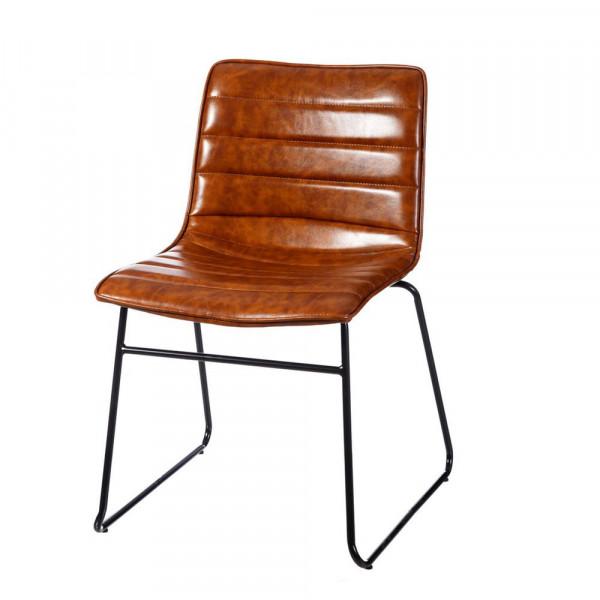 Silla de comedor de acero marrón moderno | LOLA home