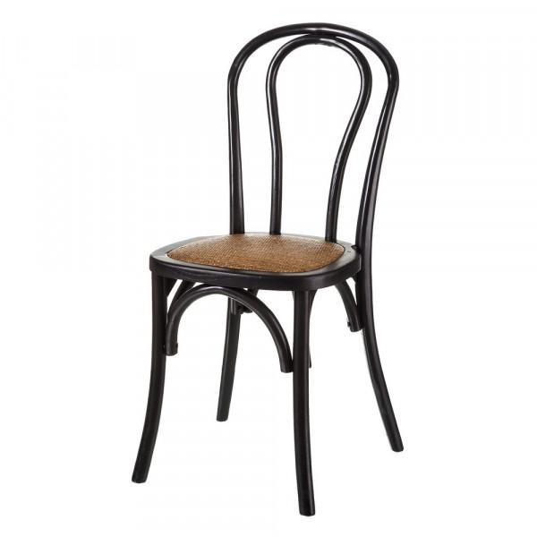 Silla de comedor vintage negro de madera para salón | LOLA home