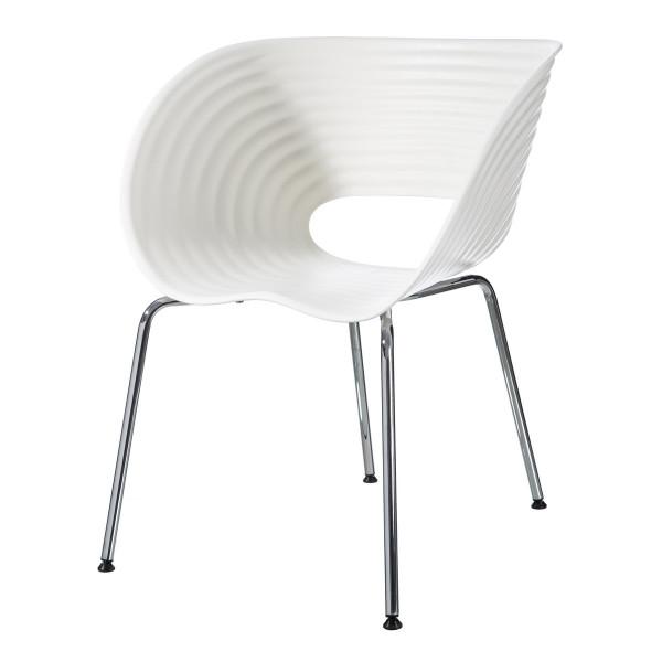 Silla de diseño de metal blanco moderno para comedor | LOLA home