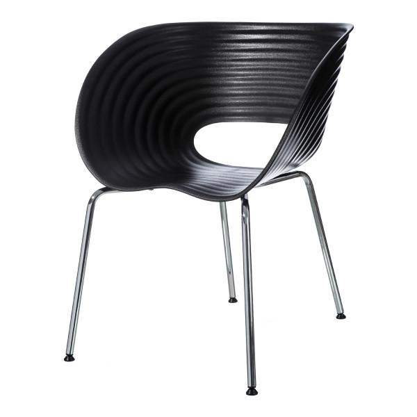 Silla de diseño de metal negra moderna para comedor Factory